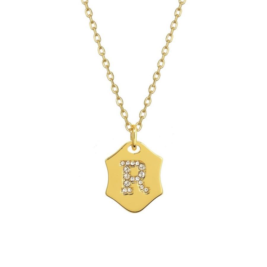 【おすすめ】 ステラ+ルビー レディース ネックレス・チョーカー アクセサリー Stella + Ruby Nom de Plume Initial Pendant Necklace, SHOES HOUSE KUZE 1893091f