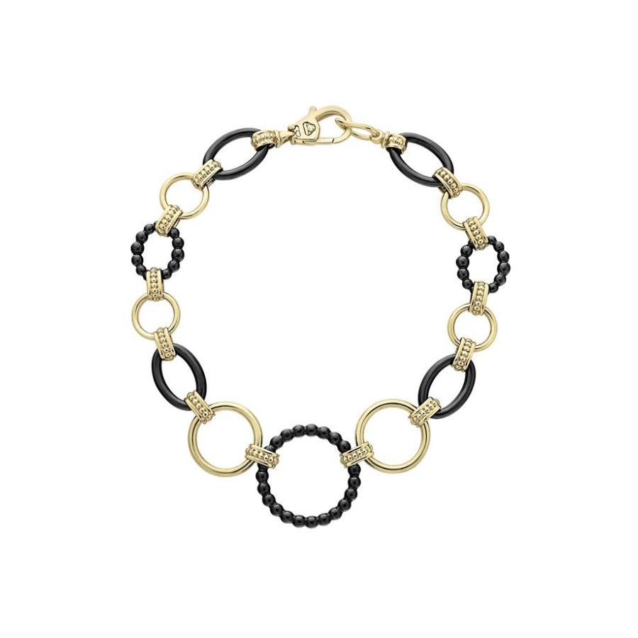 最新 ラゴス レディース ブレスレット・バングル・アンクレット アクセサリー LAGOS Gold & Caviar レディース Circle Black Caviar Circle Link Bracelet, 鷹栖町:14c02065 --- airmodconsu.dominiotemporario.com