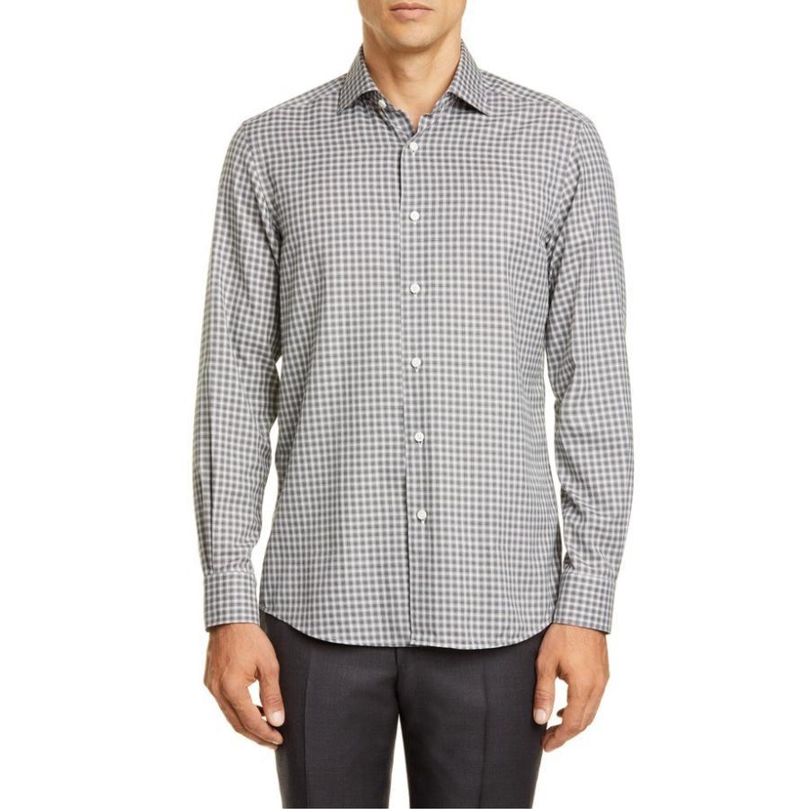 【使い勝手の良い】 エルメネジルド Fit Classic・ゼニア メンズ トップス シャツ トップス Ermenegildo Zegna Classic Fit Check Button-Up Shirt, スペールフルッタ:2abfe0ce --- levelprosales.com