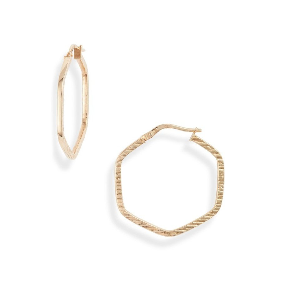 正規激安 ボニー レヴィ Bony Levy レディース ピアス・イヤリング アクセサリー Bony Levy (Nordstrom 14K Gold Octagon Hoop Earrings (Nordstrom Exclusive), 耶馬溪町:25d83af5 --- airmodconsu.dominiotemporario.com