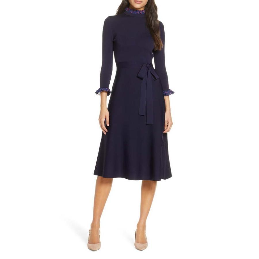 特別セーフ エリザジェイ レディース ニット・セーター アウター アウター Eliza Eliza Dress J Ruffle Trim Sweater Dress, 車いじり隊:2776c179 --- theroofdoctorisin.com
