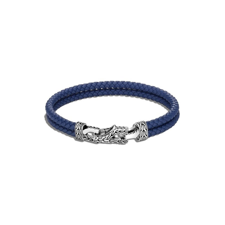 専門ショップ ジョン・ハーディー メンズ ブレスレット・バングル・アンクレット アクセサリー John Hardy Men's Asli Classic Chain Double Woven Leather Bracelet, citron glaces 7b9a0260
