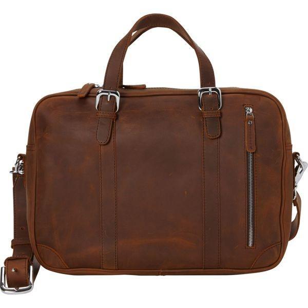 ヴァガボンドトラベラー メンズ スーツケース バッグ 16.5 Fine Leather Casual Laptop Bag