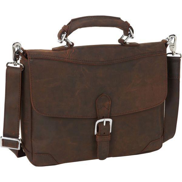 ヴァガボンドトラベラー メンズ スーツケース バッグ 15 Cowhide Fine Leather Messenger Bag with Clasp Lock