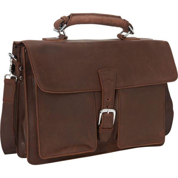 ヴァガボンドトラベラー メンズ スーツケース バッグ 16.5 Cowhide Leather Pro Briefcase Laptop Case