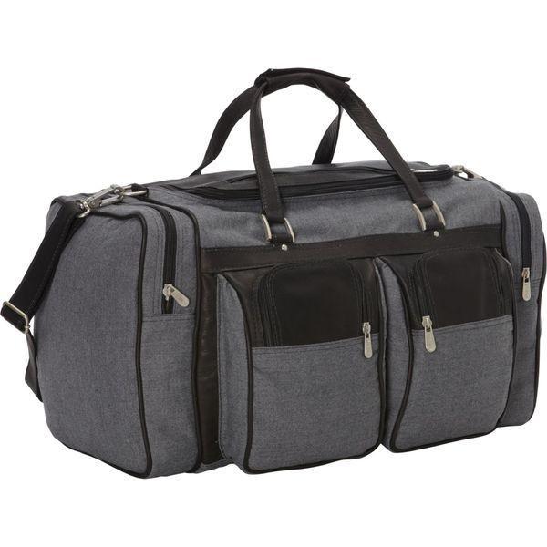 激安な ピエール メンズ スーツケース バッグ 20in Duffel Bag with Pockets - Canvas and Leather, パーソナルCARパーツ 3df7a890