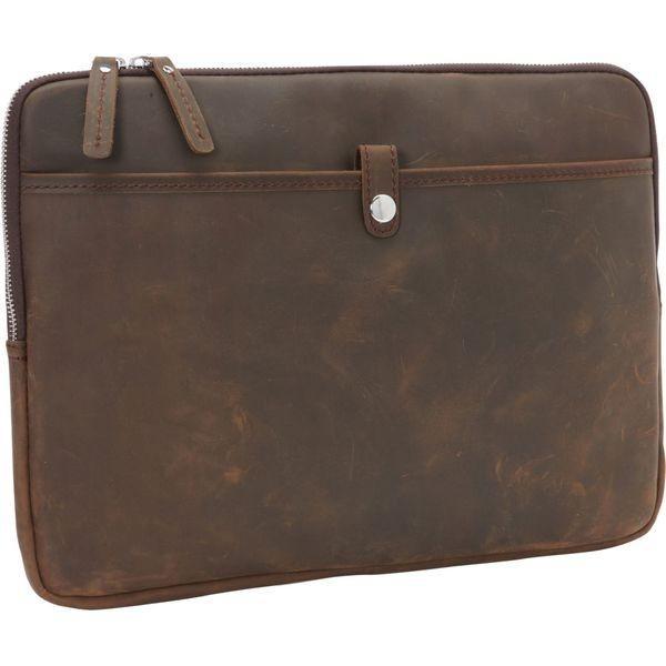 ヴァガボンドトラベラー メンズ スーツケース バッグ 15 MacBook Pro Full Grain Leather Sleeve