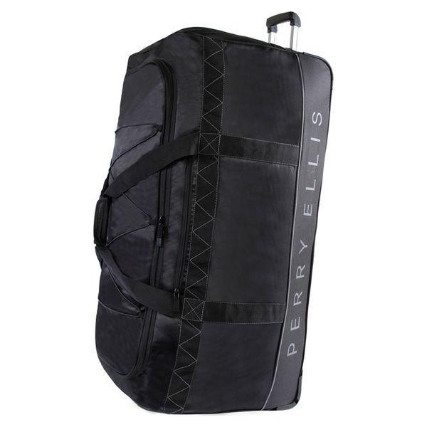 ペリーエリス メンズ スーツケース バッグ Extra Large 35 Rolling Duffel Bag