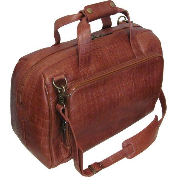 アメリ メンズ スーツケース バッグ Croco-Print 16 Leather Carry-On Weekend Duffel