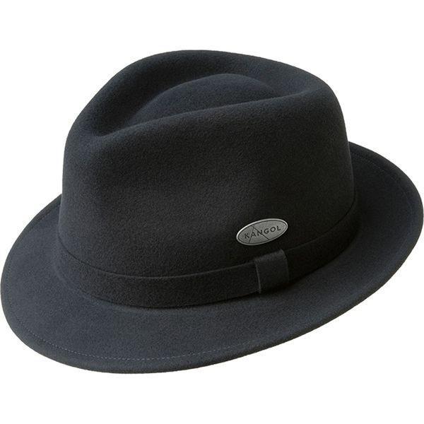 Classic plain black trilby hat