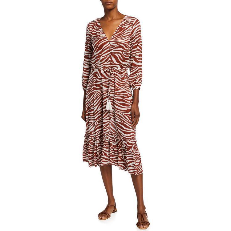 ヴェロニカ ベアード レディース ジャンプスーツ トップス Mallory Printed Tie-Waist Coverup Dress