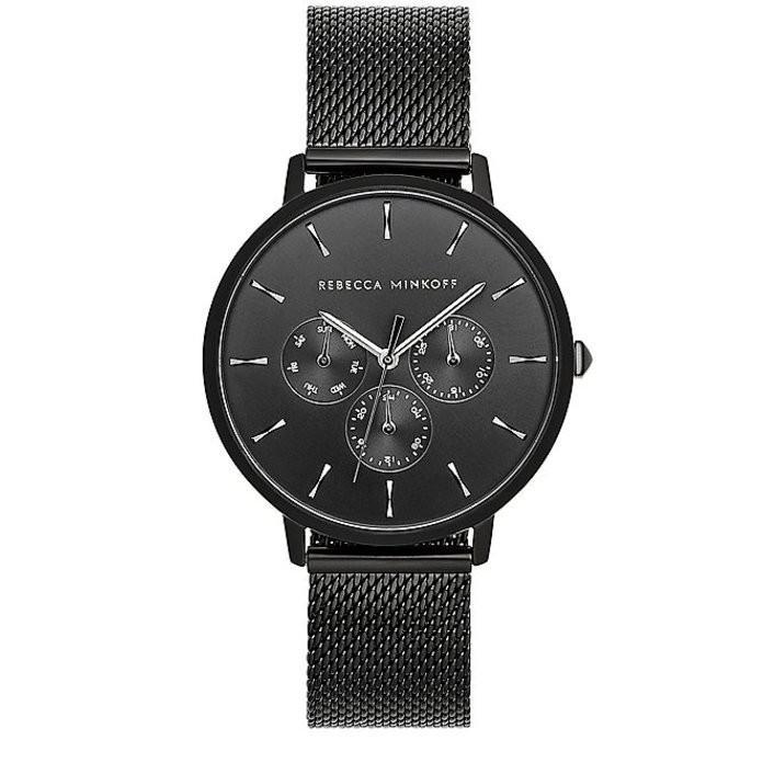 【完売】  レベッカミンコフ レディース ブレスレット・バングル・アンクレット アクセサリー Major Mesh Black-Tone Mesh Major Black-Tone Bracelet Watch, ショウワムラ:ec5c83a5 --- airmodconsu.dominiotemporario.com