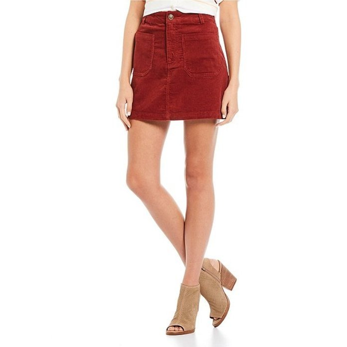人気定番の カッパーキー レディース High スカート ボトムス High Rise Rise Skirt Corduroy Mini Skirt, みんなの花屋さん ほのか:e88439df --- chizeng.com