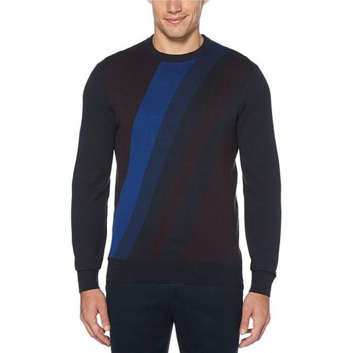 全てのアイテム ペリーエリス Sweater メンズ パーカー アウター・スウェット アウター Bold Stripe Stripe Crew Sweater, ツノチョウ:ca21c45f --- chizeng.com