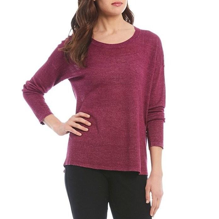 【送料込】 エイリーンフィッシャー レディース Tシャツ トップス Petite Size Hemp Tencel Blend Delave Effect Jewel Neck Top, 掃除用品クリーンクリン b3cb603e