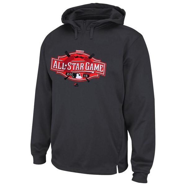 マジェスティック メンズ パーカー・スウェット アウター Cincinnati 赤s Majestic 2015 All-Star Game Therma Base Quarter-Zip Fleece Hoodi