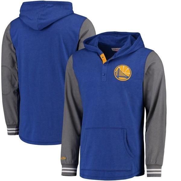 ミッチェル&ネス メンズ Tシャツ トップス ゴールドen State Warriors Mitchell & Ness Mid-Season Long Sleeve Hooded T-Shirt