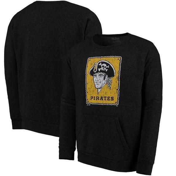 マジェスティック メンズ パーカー・スウェット アウター Pittsburgh Pirates Majestic Threads Cooperstown Collection Tri-Blend Pocket Flee