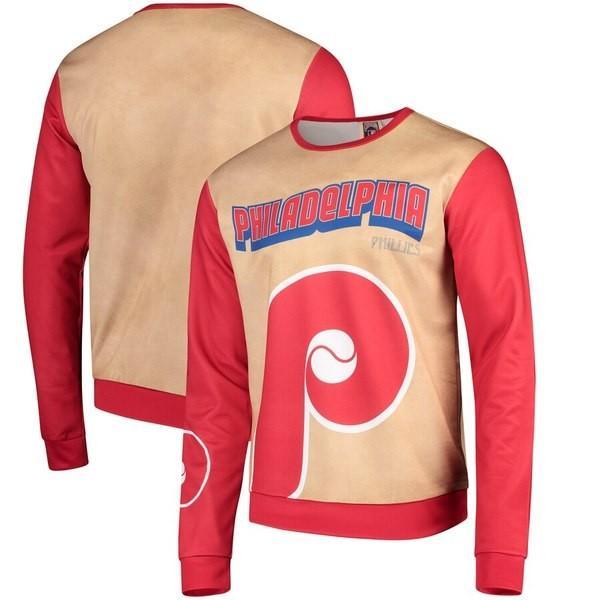 フォーエバーコレクティブルズ メンズ Tシャツ トップス Philadelphia Phillies Sublimated Crew Neck Sweater