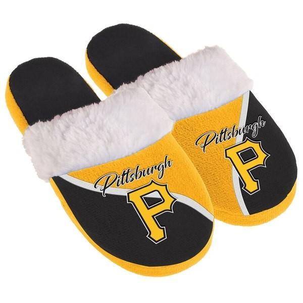 フォーエバーコレクティブルズ レディース サンダル シューズ Pittsburgh Pirates Women's Cursive Colorblock Slippers|revida