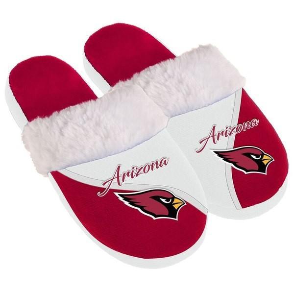 フォーエバーコレクティブルズ レディース サンダル シューズ Arizona Cardinals Women's Cursive Colorblock Slippers|revida