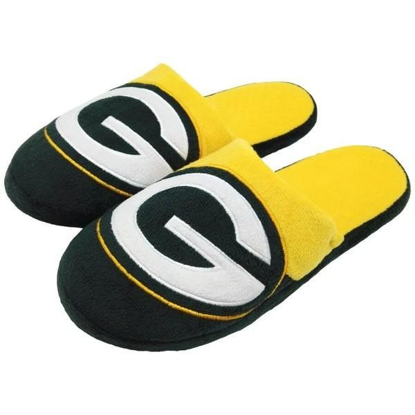 フォーエバーコレクティブルズ メンズ サンダル シューズ Green Bay Packers Colorblock Slide Slippers|revida