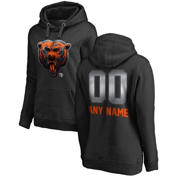 ファナティクス ブランデッド レディース パーカー・スウェット アウター Chicago Bears NFL Pro Line by Fanatics Branded Women's Personalized Midnight Mas