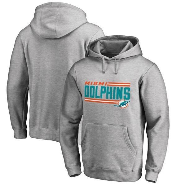 ファナティクス ブランデッド メンズ パーカー・スウェット アウター Miami Dolphins NFL Pro Line by Fanatics Branded Iconic Collection On Side Stripe