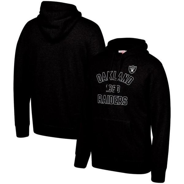 ミッチェル&ネス メンズ パーカー・スウェット アウター Oakland Raiders Mitchell & Ness Team History Pullover Hoodie