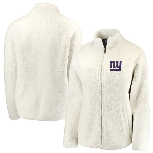 ファナティクス ブランデッド レディース ジャケット・ブルゾン アウター New York Giants NFL Pro Line by Fanatics Branded Women's Sherpa Full-Zip Jacket