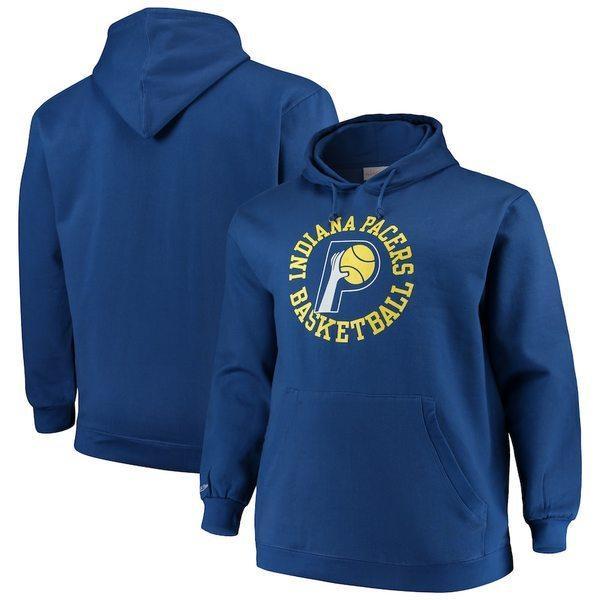 【名入れ無料】 ミッチェル&ネス メンズ Logo Tall パーカー・スウェット アウター Indiana メンズ Pacers Mitchell & Ness Big & Tall Throwback Logo Pullover Hoodie, エサンチョウ:f1d40ea4 --- airmodconsu.dominiotemporario.com