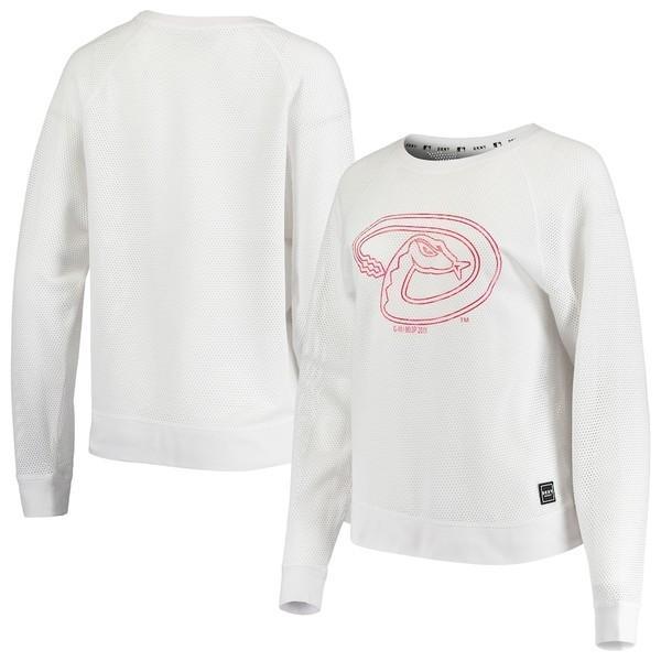 ダナ キャラン ニューヨーク レディース Tシャツ トップス Arizona Diamondbacks DKNY Sport Women's The Lauren Pullover Long Sleeve T-Shirt
