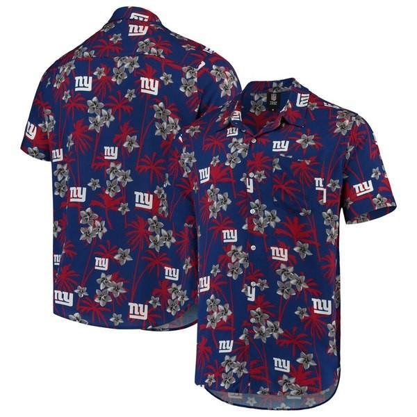 フォーエバーコレクティブルズ メンズ Tシャツ トップス New York Giants Floral Woven Button-Up Shirt