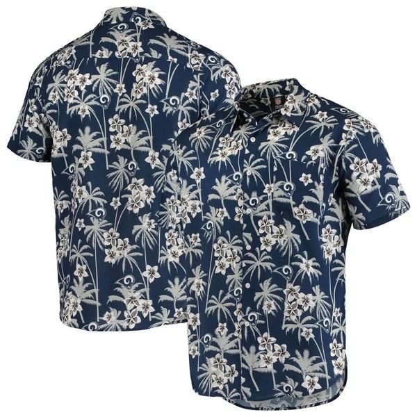 フォーエバーコレクティブルズ メンズ Tシャツ トップス Los Angeles Rams Floral Woven Button-Up Shirt