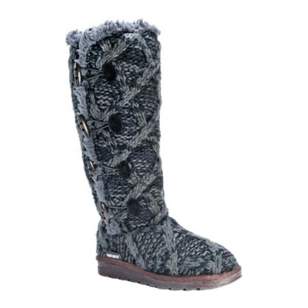 ムクルクス レディース ブーツ・レインブーツ シューズ Felicity Knitted Mid Calf Boot