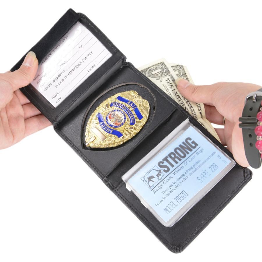 ストロング ID&ポリスバッジホルダー 79520シールド大 盾型 IDホルダー 名札入れ 社員証 IDカードケース カードホルダー