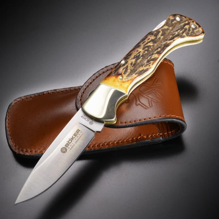 ボーカー アウトドアナイフ 545HH ドロップポイント スタッグ BOKER シース | 登山 魚釣り フィッシングキャンプアウトドア狩猟