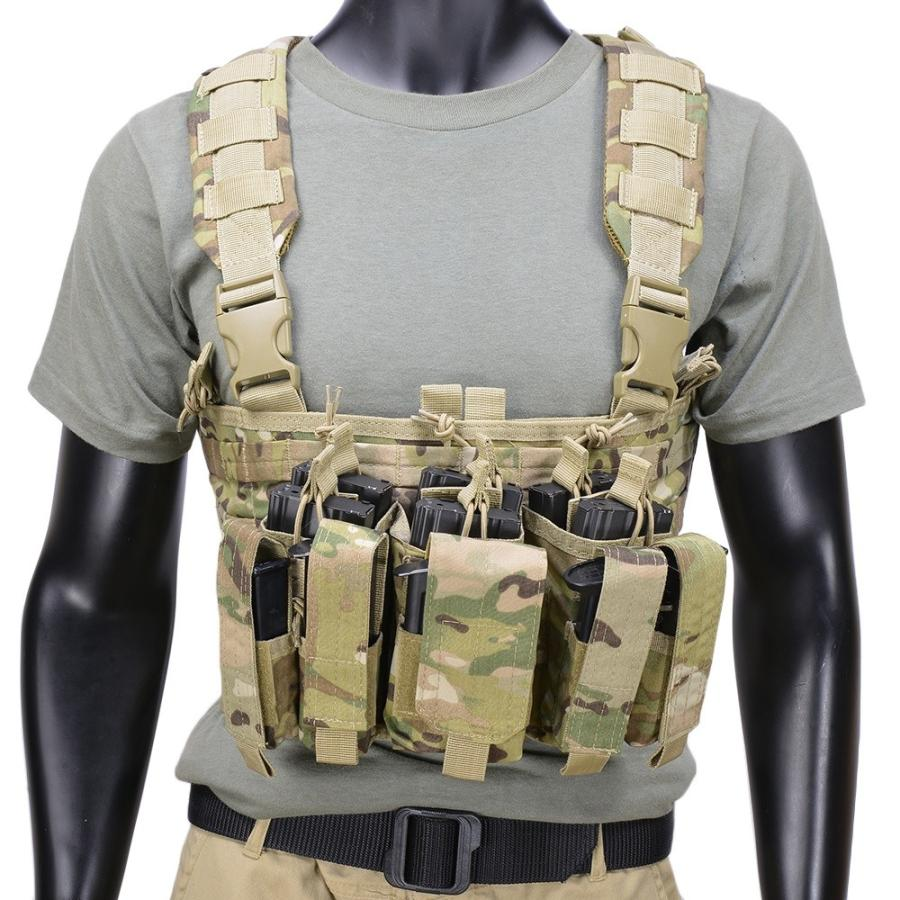 CONDOR チェストリグ MCR5 リーコン M4 ピストルマガジン6本 迷彩 [ マルチカム ] OUTDOOR コンドルアウトドア 弾薬帯