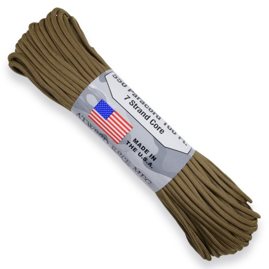 30 m Coyote Atwood 550 Paracord Rope 4 mm