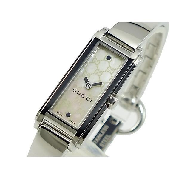 【初売り】 グッチ GUCCI Gライン G-LINE レディース 腕時計 YA109531 ホワイトシェル, コシグン 5377a525