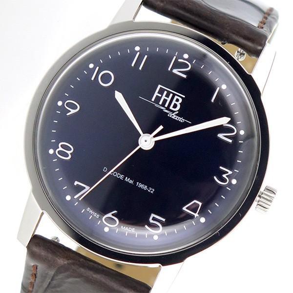 売れ筋商品 エフエイチビー FHB Classic Flair Series 腕時計 F908SN-BR ネイビー×ブラウン ダークブルー, チェリーホップ 1ab0e5c5