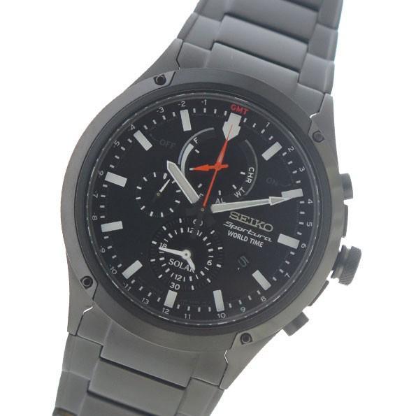 激安人気新品 セイコー SEIKO スポーチュラ ソーラー SPORTURA SOLAR クロノ クオーツ メンズ 腕時計 SSC481P1 ブラック ブラック, ディーショップワン 9316f0f3