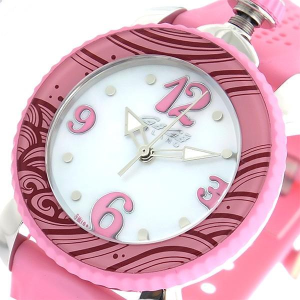 大人気新作 ガガミラノ GaGaMILANO レディスポーツ クオーツ レディース 腕時計 7020.09 ピンク ホワイトパール, 昭和書体 3361906b