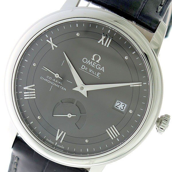 送料無料 オメガ OMEGA デビル DE VILLE 自動巻き メンズ 腕時計 424.13.40.21.06.001 グレー/グレー グレー, 内灘町 6a7c9ef0