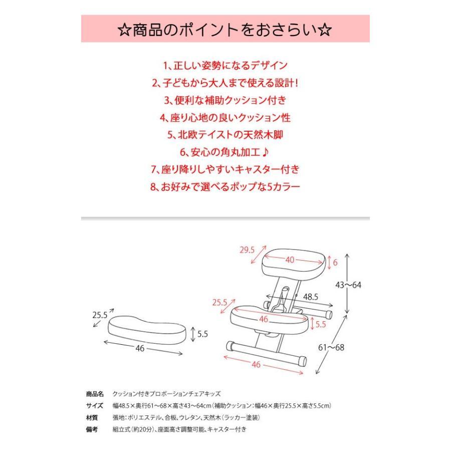 プロポーションチェア キャスター付き バランスチェア 矯正椅子 学習