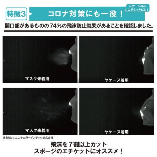 ヤケーヌ スタンダード UVカット マスク 日焼け防止 顔カバー デイリータイプ 洗える スポーツ rex2020 08