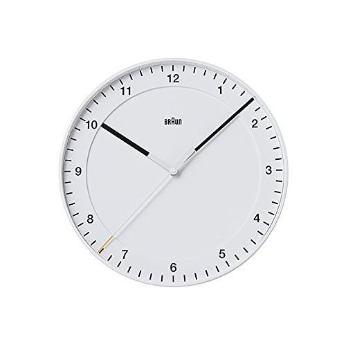 BRAUN ブラウン BNC017WHWH BNC017BKBK 壁掛け時計 (ホワイト) 並行輸入品
