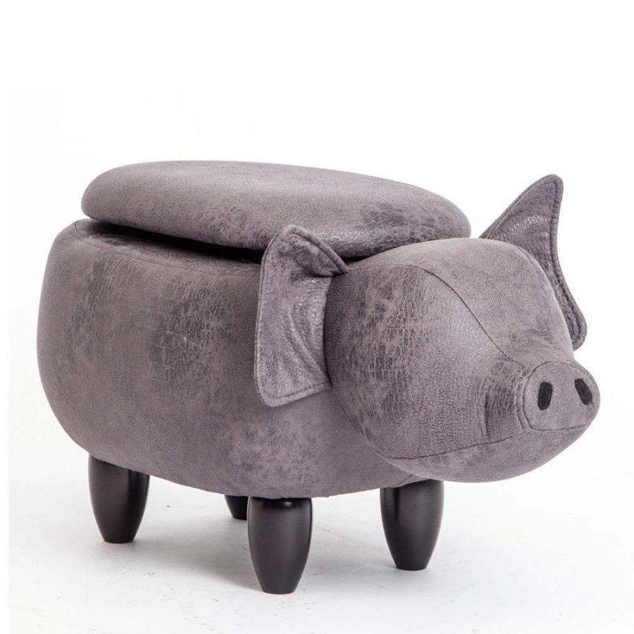 アニマルスツール 収納 玄関 椅子 動物椅子 動物椅子 ベンチ 収納 オットマン スツール キッズスツール 動物スツール 収納スツール 收納可能 いの