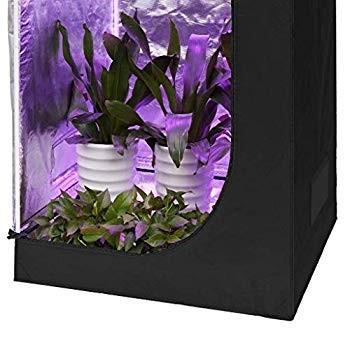 SMARUP グロウテント80*80*160cm 600D水耕性マイラー 安全遮光なグロウボックス 観察窓、ツールバッグ付き 水耕栽培 水草