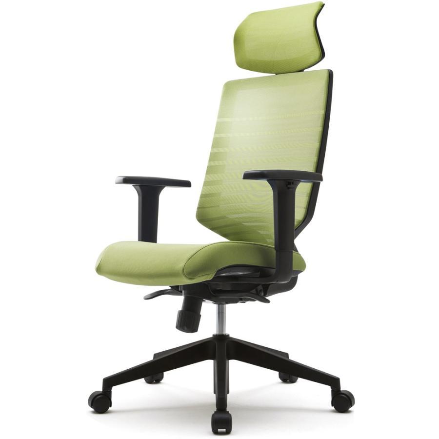 [FURSYS] [FURSYS] [FURSYS] T30チェア 可動肘 ヘッドレスト付き グリーン FHTN302RF021 アールエフヤマカワ RFyamakawa 事務椅子 ワークチェア アームチェア a1e